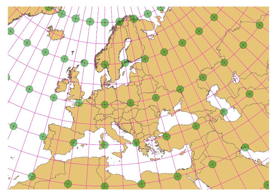 Cartina Europa Con Meridiani E Paralleli.Coordinate E Sistemi Di Riferimento Corso Gis 2 0 Documentazione